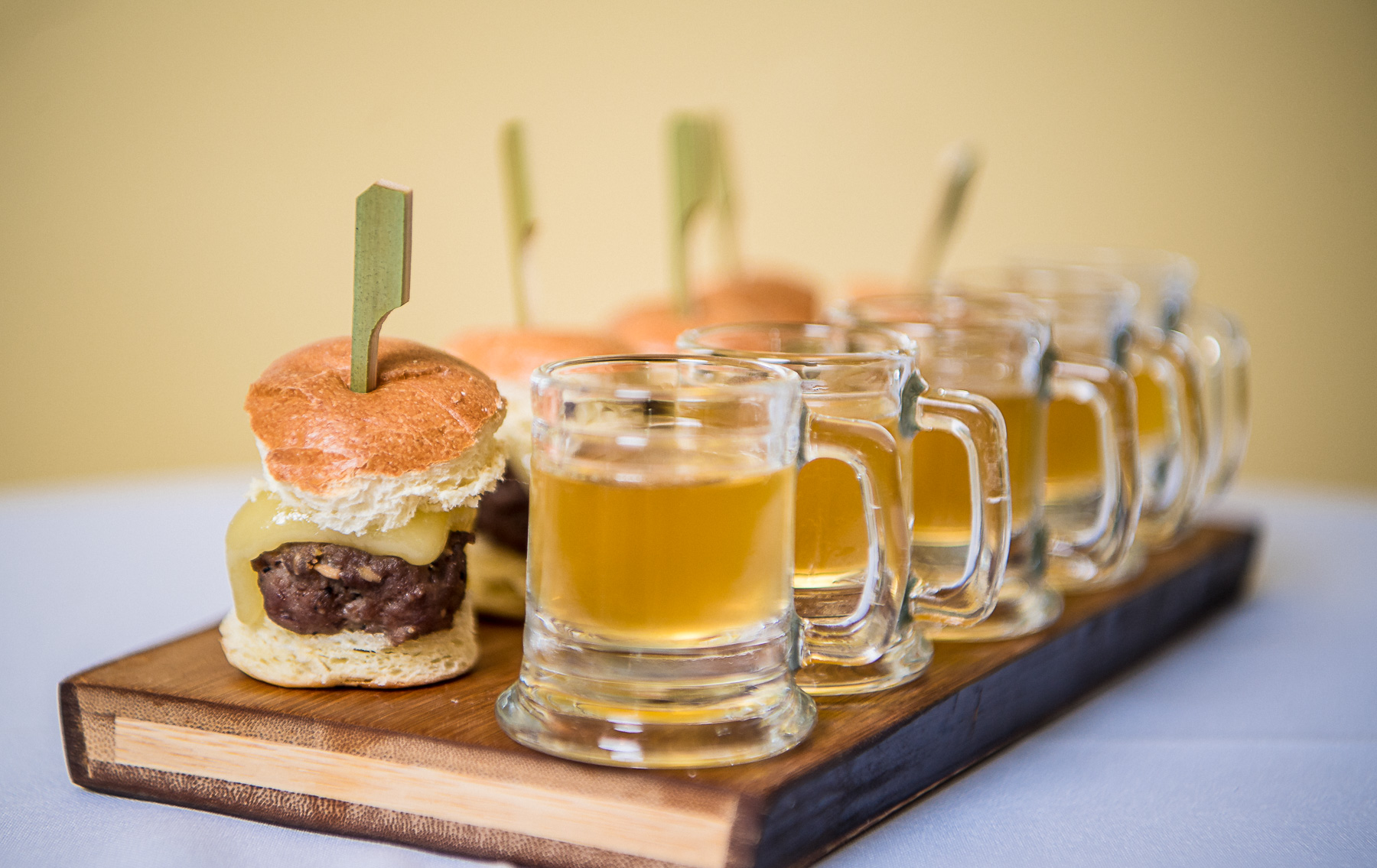Mini Slider with a Craft Beer Shooter